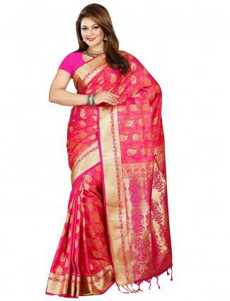 G3 Exclusive pink pretty silk wedding sari