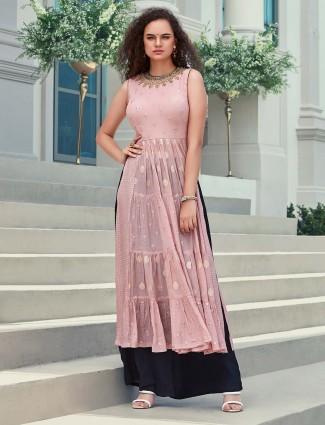 Georgette pink designer punjabi suit
