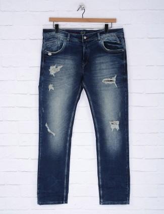 Gesture blue ripped denim jeans