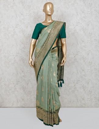 Green dola silk for wedding function