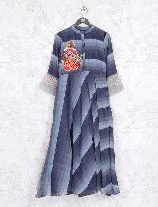 Grey hue casual cotton kurti