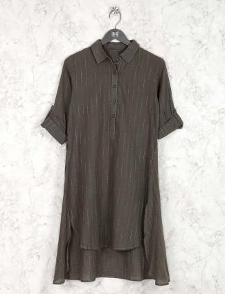 Grey hue cotton fabric cotton kurti