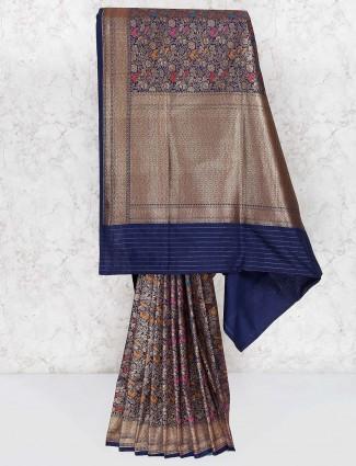 Navy hue gorgeous saree