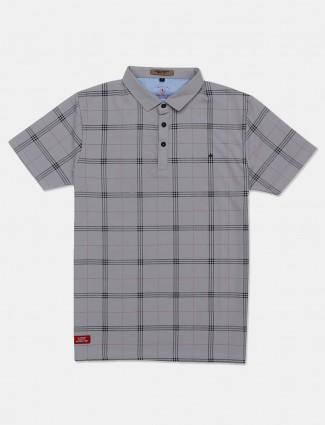 Instinto mens grey checks t-shirt