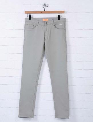 Irony denim pista green solid jeans