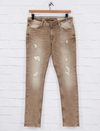 Killer khaki mens slim fit casual jeans