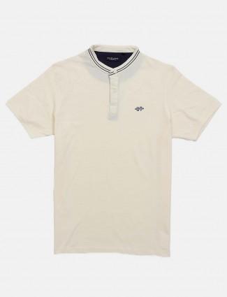 Killer solid cream cotton t-shirt