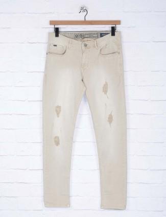 Kozzak ripped beige colored jeans