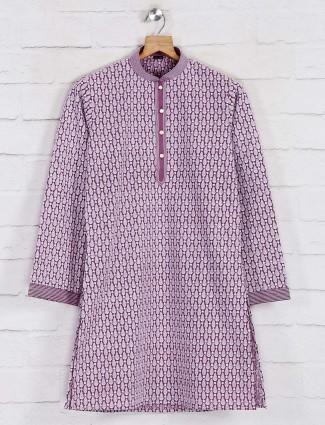 Lakhnavi onion pink cotton kurta suit