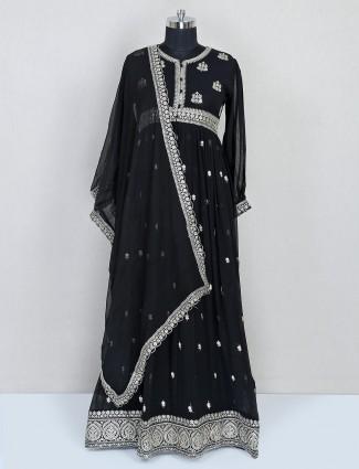 Latest black georgette anarkali salwar suit