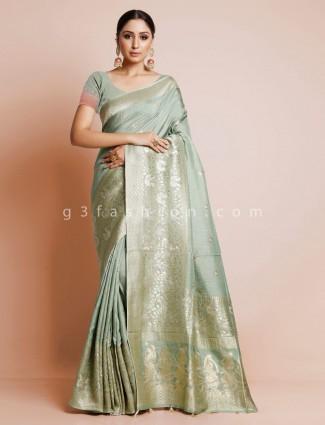 Latest green dola silk wedding exclusive saree