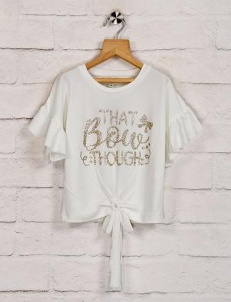 Leo N Babes casual white top