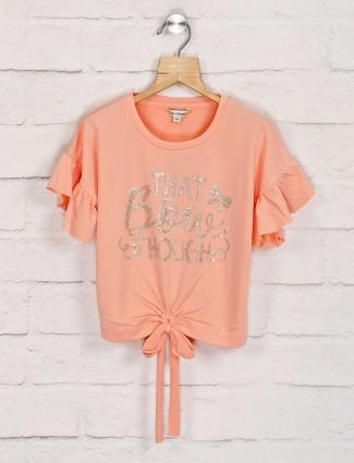 Leo N Babes cotton top in peach