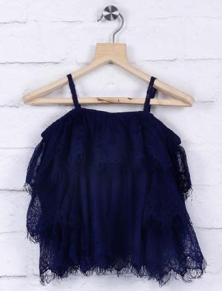 Leo N Babes navy blue cotton top