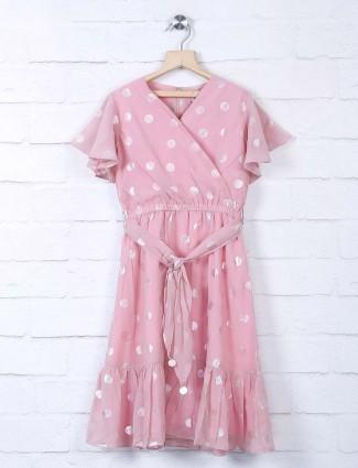 Leo N Babes pink georgette frock