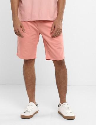 Levis peach casual slim fit short