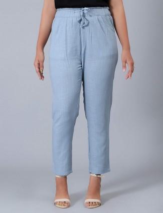 Linen sky blue comfortable pyjama