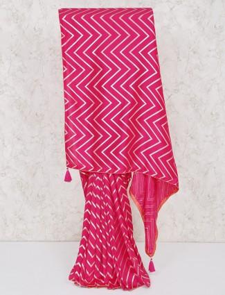 Lovely magenta festive silk saree