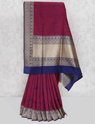 Purple hue prettiest saree