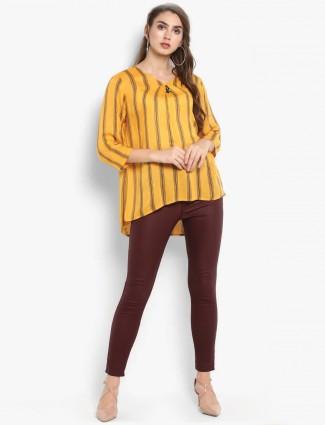 Mustard yellow cotton fabric top