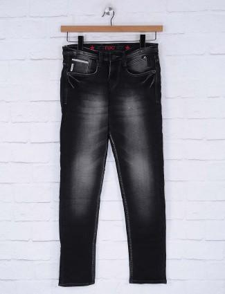 Nostrum dark wash effect black jeans