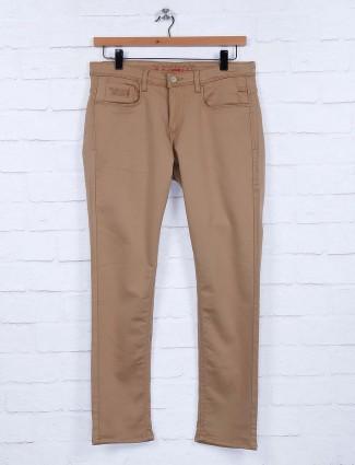 Nostrum khaki casual wear solid jeans