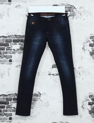 Nostrum navy mild wash casual jeans