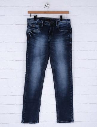 Nostrum solid navy hued jeans