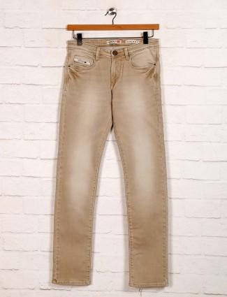 Nostrum washed khaki slim fit jeans