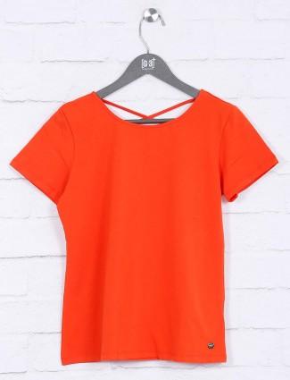 Orange colored cotton top