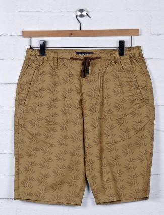 Origin brown hue printed mens shorts