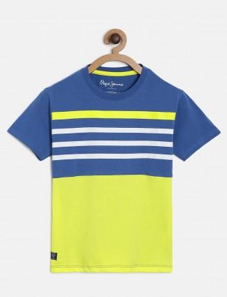 Pepe Jeans cotton stripe blue t-shirt
