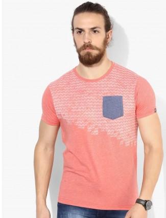 Pepe Jeans peach cotton t shirt