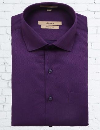 Pienza solid purple shirt