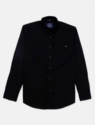 Pioneer black casual wear solid shirt