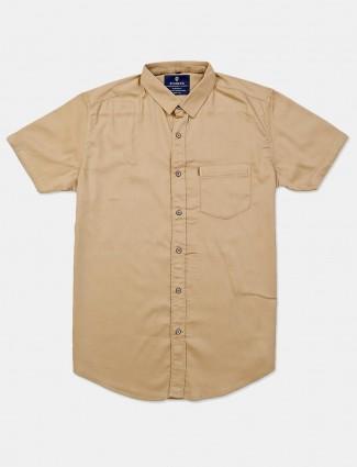 Pioneer solid khaki cotton shirt