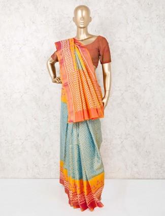 Pista green cotton silk wedding saree