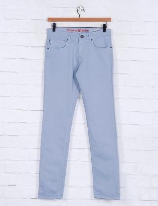 Poison aqua solid nerrow fit mens jeans