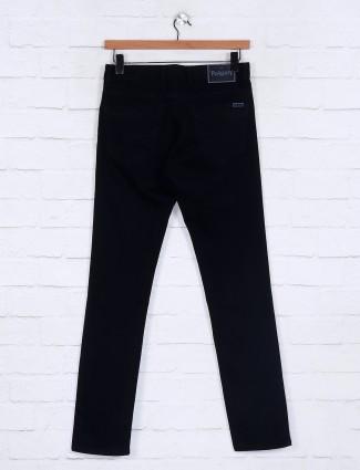 Poison solid black slim fit jeans