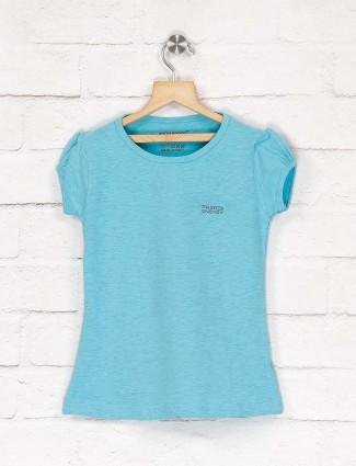 Pro Energy cap sleeves aqua color top