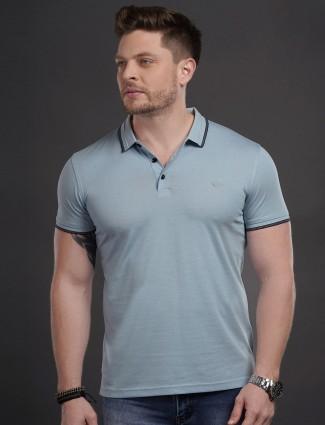 Psoulz mens solid grey colour t-shirt