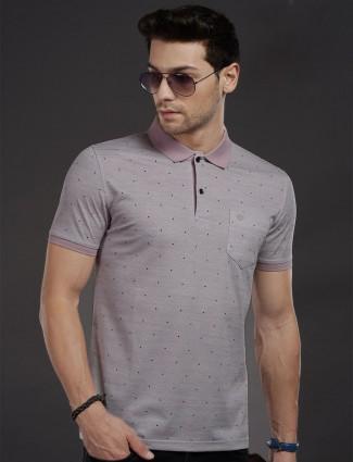 Psoulz violet printed cotton t-shirt