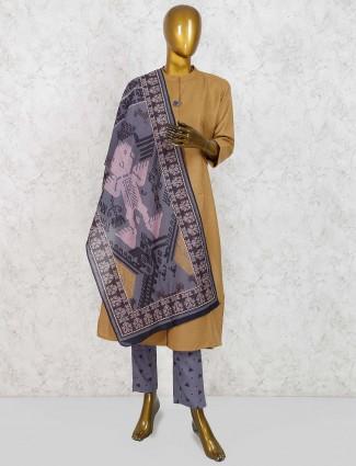 Punjabi salwar suit in beige