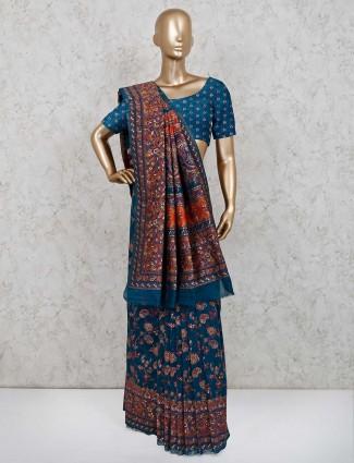 Rama green designer patola silk saree