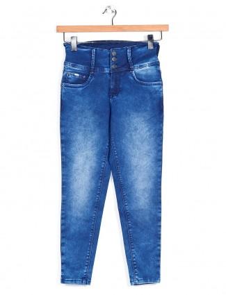 Recap blue washed denim for women