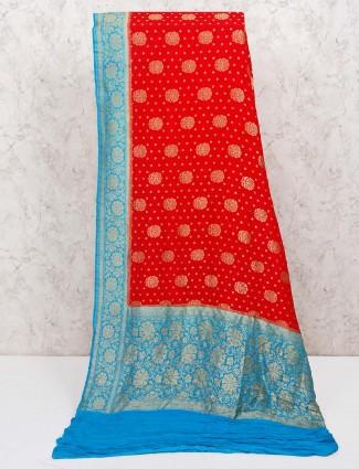 Red adorable banarasi silk saree