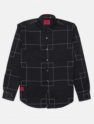 River Blue black checks casual wear shirt
