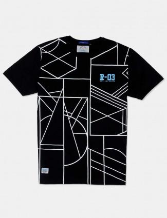 River Blue black printed t-shirt