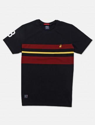 River Blue black stripe casual wear mens t-shirt