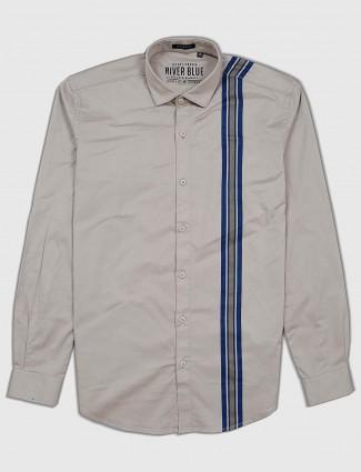 River Blue grey color cotton fabric shirt
